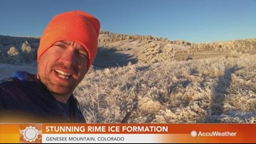 Reed Timmer captures incredible rime ice formations