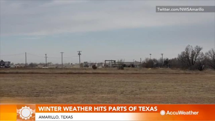 Snowstorm unloads over half-foot of snow in Texas
