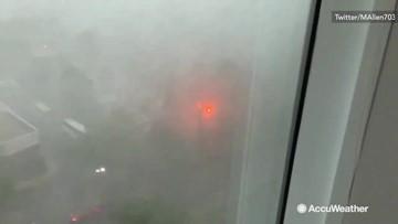 Storm causes transformer to explode