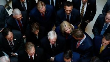 Republicans disrupt closed-door impeachment deposition