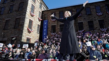 Elizabeth Warren makes presidential bid official with call for change