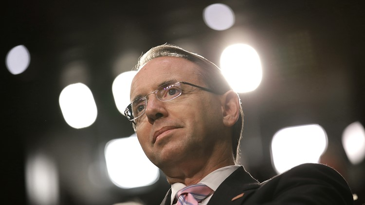 Rod Rosenstein denies he proposed secretly recording Donald Trump