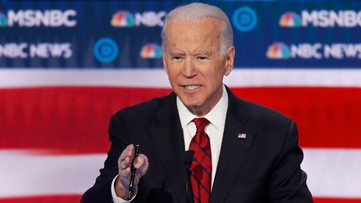 Protesters interrupt Joe Biden at debate over immigration policies