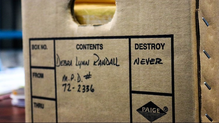 Debbie Lynn Randall case file box