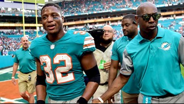 Dolphins stun Patriots with Kenyan Drake's last-second touchdown after 2 laterals