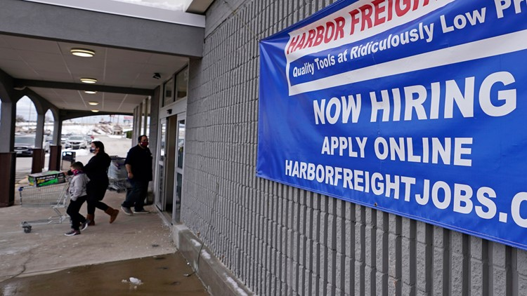 March hiring accelerated to 916K, yet many jobs remain lost