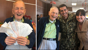 WWII veteran buys $1,500 worth of Chick-Fil-A for military families to celebrate 92nd birthday