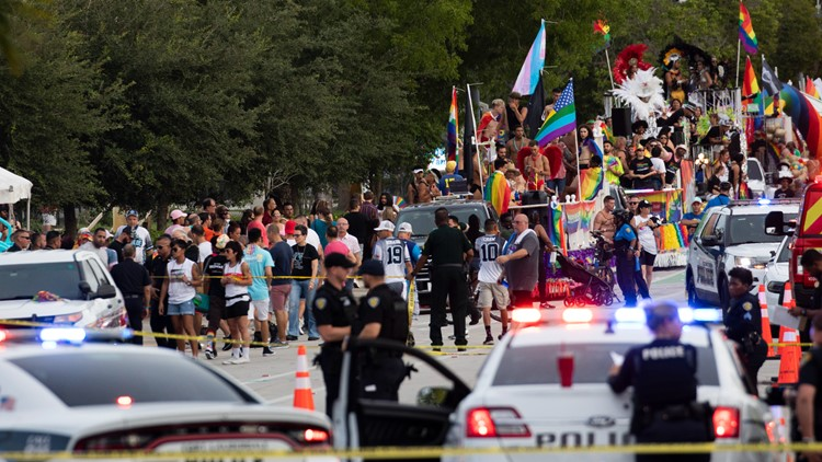 Driver crashes into crowd at Pride parade in Florida; 1 dead
