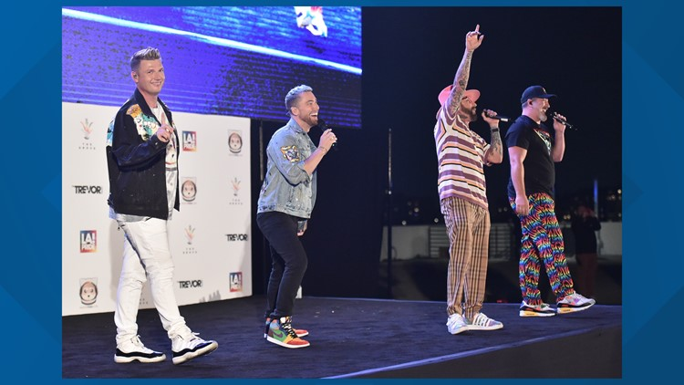 Backstreet Boys members joined NSYNC members for sold out 'Back-Sync' performance in LA