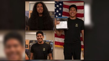 After enlisting, future soldier donates hair he grew for 15 years