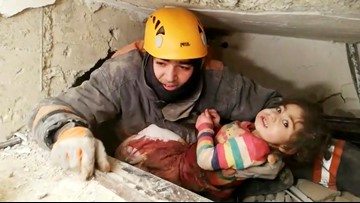 2-year-old girl rescued from rubble of 6.8 earthquake in Turkey