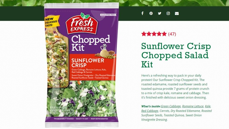 Fresh Express Salad Kit Sunflower Crisp