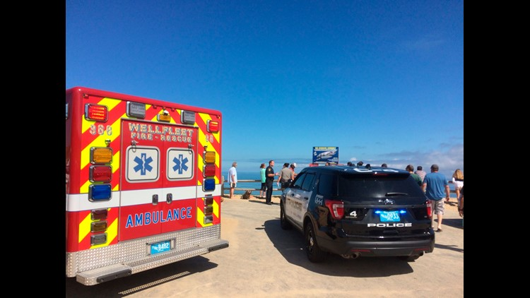The incident would be the first fatal shark attack in the state since 1936. A witness said the victim was boogie boarding at the time of the attack.