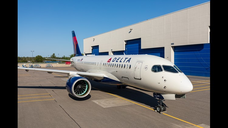 "The aircraft, known as the ""Bombardier CSeries"" until it was rebranded in July, is expected to begin flying for Delta Air Lines in early 2019."
