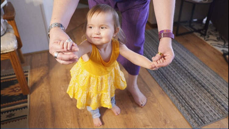 Maddy will undergo the gene therapy treatment next week – just before her 2nd birthday.