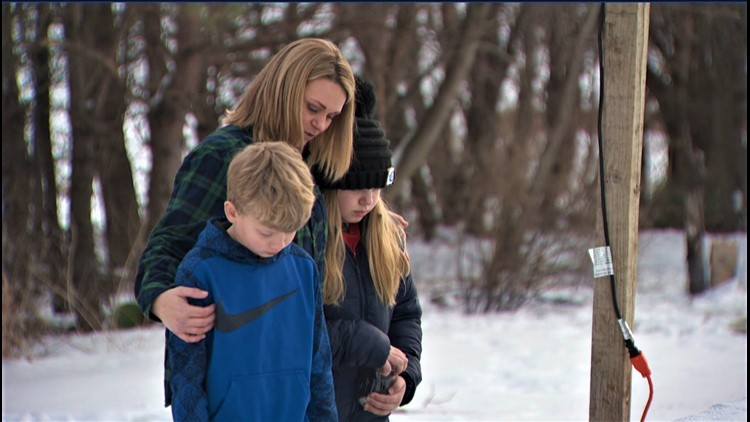 Kids scatter hockey dad's ashes at backyard rink he built for them
