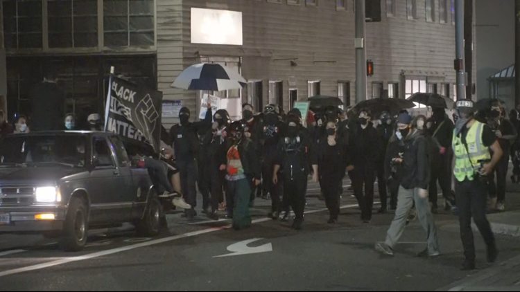 Unlawful assembly declared outside ICE building in Portland, police arrest 4