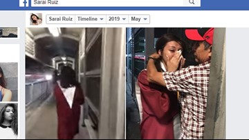 High school graduate shares emotional hug with her father at Mexican border