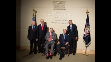 Former U.S. Presidents announce hurricane relief effort