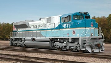 A look at the train that will take President George H.W. Bush to final resting place