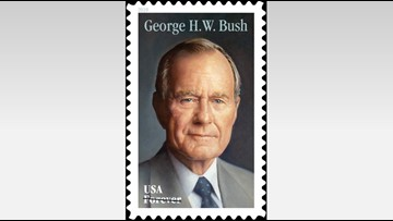 President George H.W. Bush honored in new Forever stamp design