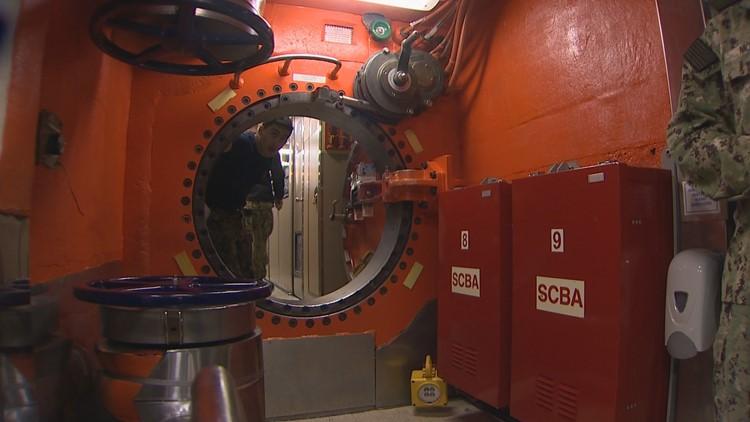 trident submarine inside