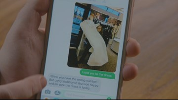 Washinton state woman receives several wedding donations from strangers after wrong number text