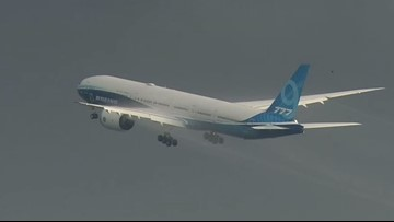 Boeing's new 777X jet makes its first test flight on the second try