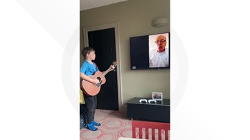 VIDEO: Boy and grandfather 'want to break free' while jamming to Queen on video chat