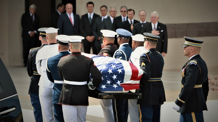 'We shall not see his like again': Biden, Fitzgerald honor McCain at Phoenix service