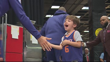 'This is the best day ever': Suns throw a party for the boy with a lonely birthday