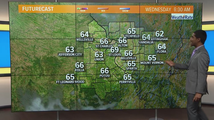 Ksdk Weather Map.Tuesday Weather Forecast 730am Ksdk Com