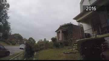 Vacant home demolition damages house next door