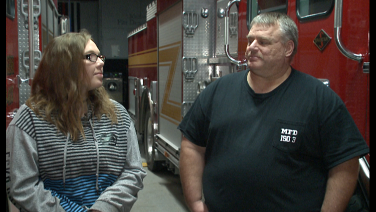 When her home went up in flames, the firefighter that came to her rescue was her dad