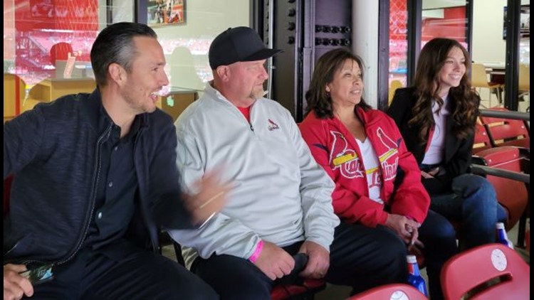 Watching their son in person for first time with Cardinals is 'incredible, unreal' for Jeff and Caryn Carlson
