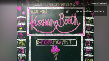 'Pucker up' to win some free ice cream at Clementine's