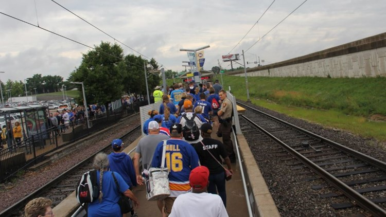 more than 100,000 use the MetroLink on the day of the Blues parade, Saturday, June 15.