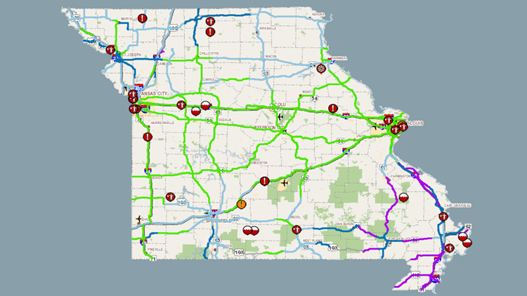 Roads still covered by ice and snow in southeast Missouri | ksdk.com