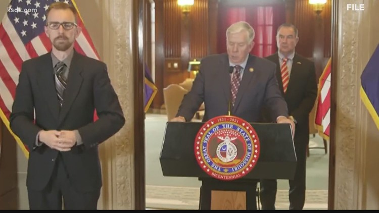 Missouri, Illinois governors address COVID surge