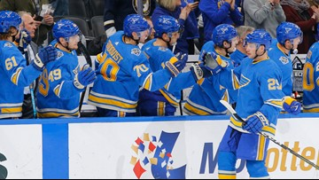 Defensive depth paying off for Blues