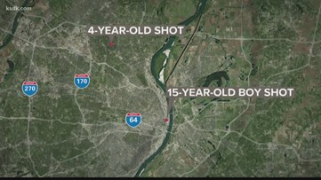 2 children shot in separate shootings over the weekend