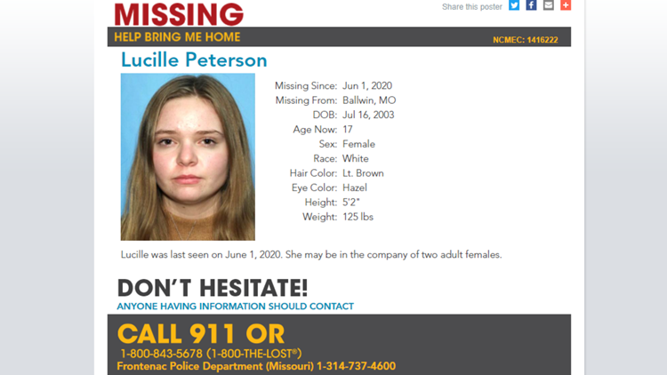 Where's Lucy? Sham teen marriage and felony charges featured in case of missing St. Charles County girl