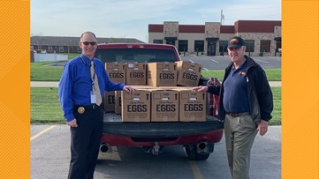 Farmer donates dozens of eggs to Lincoln County Sheriff's Office