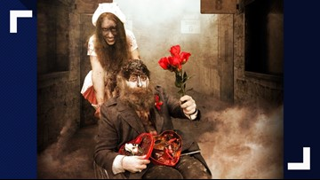 Take your ghoulfriend to a haunted house for Valentine's Day