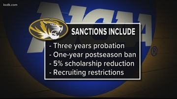 Mizzou hit with bowl ban, other sanctions after academic investigation