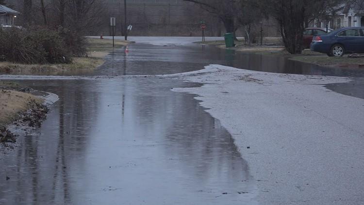 Centreville flooded roads