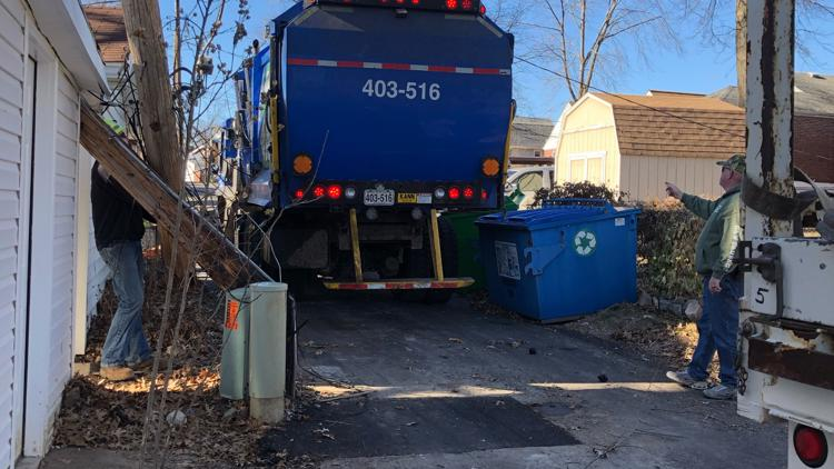 'What's the point in having any faith in the city'   New homeowners say St. Louis trash truck destroyed garage roof