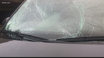 The dangers of driving with ice or snow 'mattresses' on your car