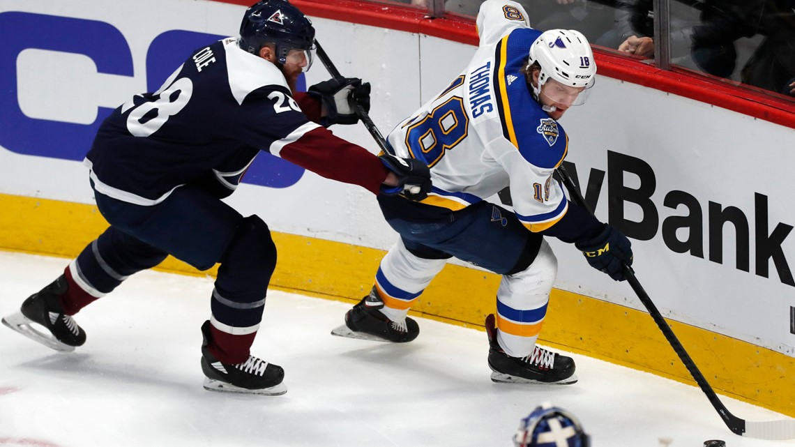 Mistakes costly for Blues in 5-3 loss to Avalanche