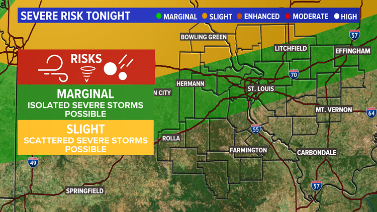 Severe storms possible Sunday night into Monday morning